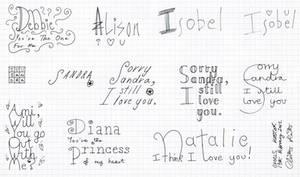 Girl's Names 3 by christopherhester