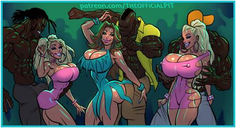Kitty, Bianca, and Jenny go Clubbin' (D.I.D. pt V) by TheOfficialPIT