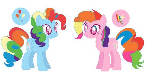 MLP[DrawingVerse]PinkieDash and Sweetines Rainbow by DrawingwithBleona