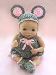 Crochet Costume MOUSE Romper by Angelic0346