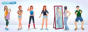 personajes by kabezon23