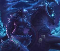 Female Tauren Deathknight by GenjiLim