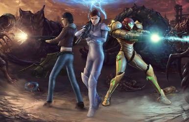 Futuristic Heroines by GenjiLim