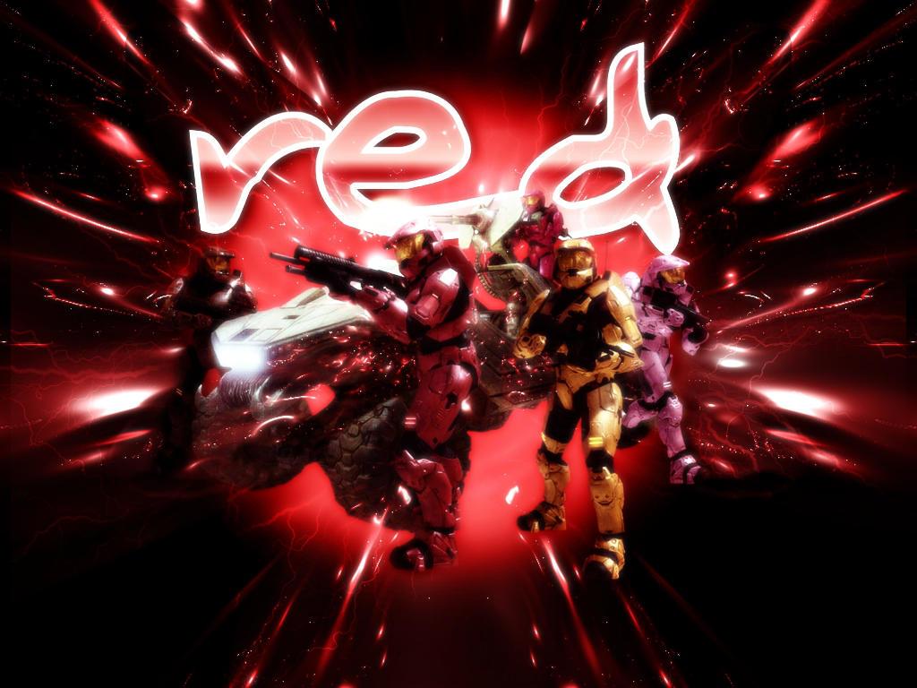 Red vs Blue Wall: Red Team by FallenAngel1991