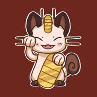 Lucky Meowth by BriMercedes