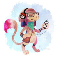 Hipster Smeargle by BriMercedes
