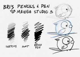 Pen/Pencils - Manga Studio 5 / Clip Studio Paint by BriMercedes