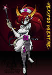Hekapoo Valentine (Skull girls) by emiliano-roku