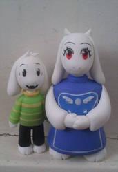 Toriel and Asriel by bupiti