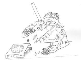 Inktober (kinda) - Donatello by patmax17