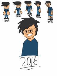 Evolution Of My Artstyle by GoldieTehArtist
