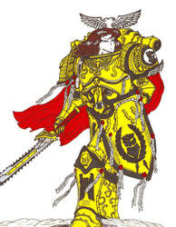 Raina, daughter of the Primarch Rogal Dorn by terraluna5