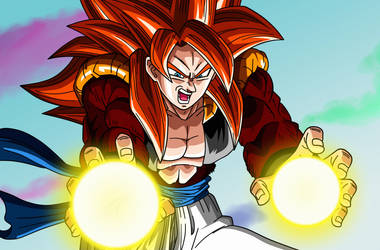 Poster #1: Gogeta Super Saiyan 4 by Dark-Crawler