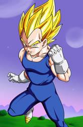 Poster #2: Vegeta Super Saiyan by Dark-Crawler