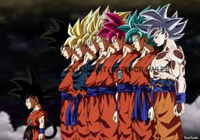 Son Goku Transformations by Dark-Crawler