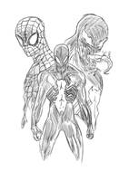 Spiderman venom symbiote sketch by wyldcam