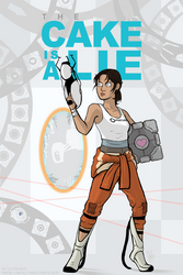 The Cake is a LIE - Portal 2 by Girl-on-the-Moon