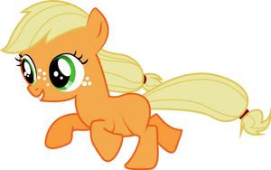 Filly Applejack by Silentmatten