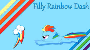 Filly Rainbow Dash Wallpaper by Silentmatten