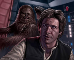 Han and Chewie by R-Valle