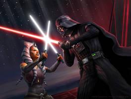 Vader vs Ahsoka by R-Valle
