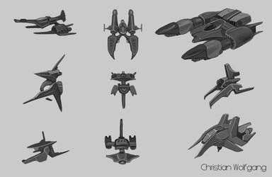 Vehicle sketches by wolfgang-111