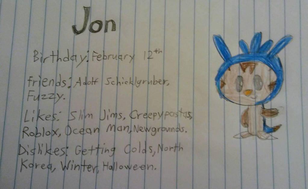 My New Oc Jon By Adolfschicklgruber On Deviantart