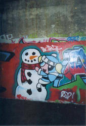 snowman and bubbles by bubonelett