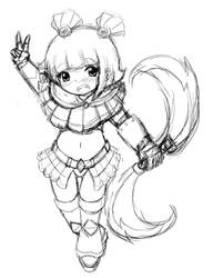 Loli Warrior by taskimosaki