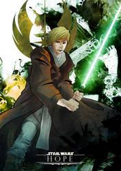 Luke Skywalker - 'Hope' by HuntingHawk