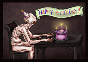 Party time with the Pale Man by Kaaziel