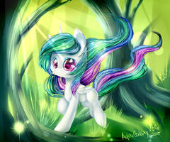 Celestia forest serenade by AquaGalaxy