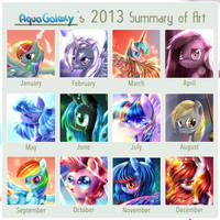 AquaGalaxy's Art summary meme by AquaGalaxy