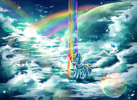 MLP Rainbow fountain by AquaGalaxy