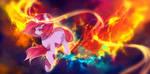 Crimson flare by AquaGalaxy