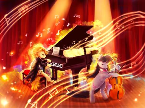 MLP C: Harmonic Duo by AquaGalaxy