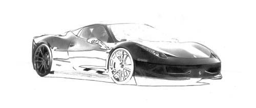 Ferrari 458 Italia (WIP 1) by Lmomjian