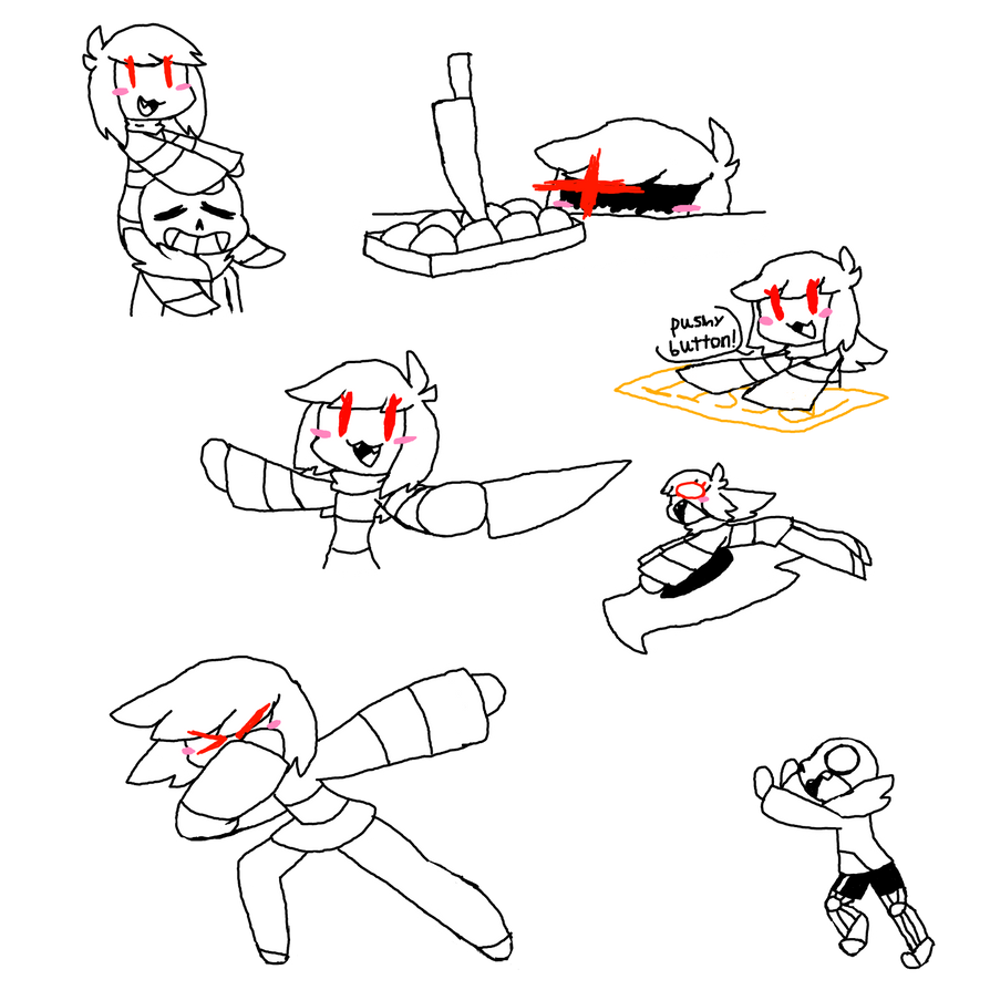 Chara Doodles by stilbie