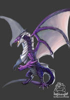 Purple Dragon by badfatdragon