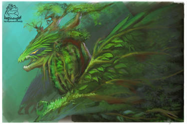 Tree dragon by badfatdragon