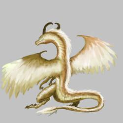 Gold Dragon by badfatdragon