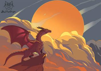 Rising sun by badfatdragon