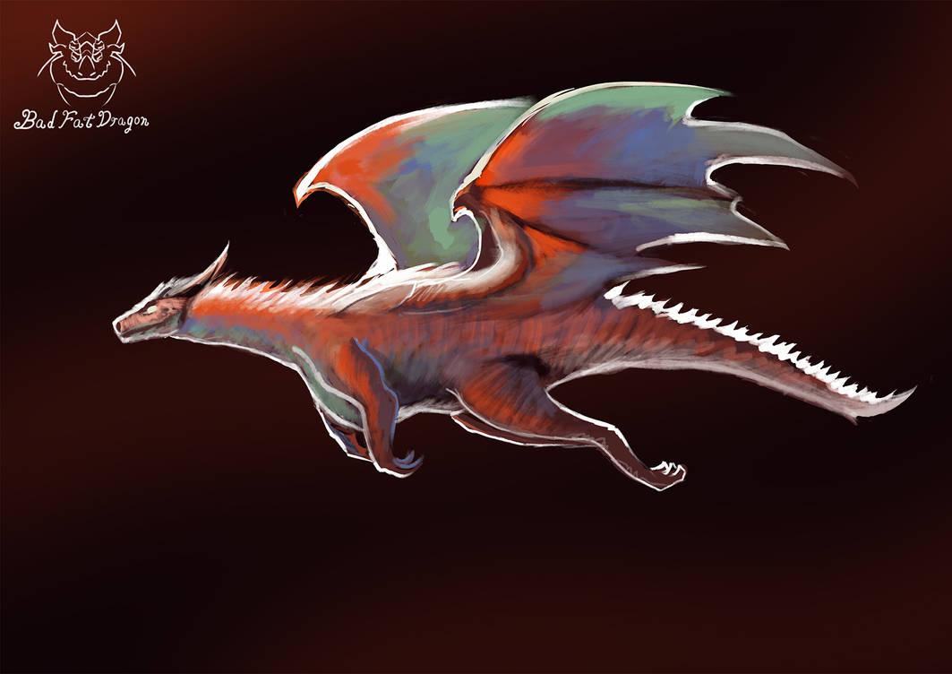 red dragon by badfatdragon