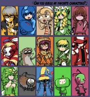 Favorite Characters Meme by Parororo