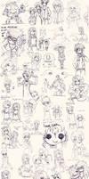 Super OC Sketch Dump by Parororo