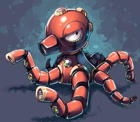 Artillery Octopus by Parororo