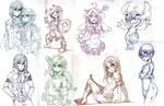 Patreon Sketches June by Parororo