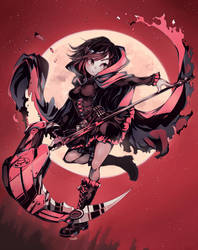 Ruby Rose (RWBY) by Parororo