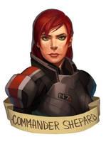 Shepard (commission) by kleineHerz