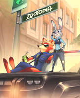 Watching over Zootopia by luigiix